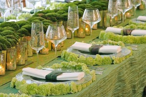 chemin-de-table-mariage-mousse-vegetal