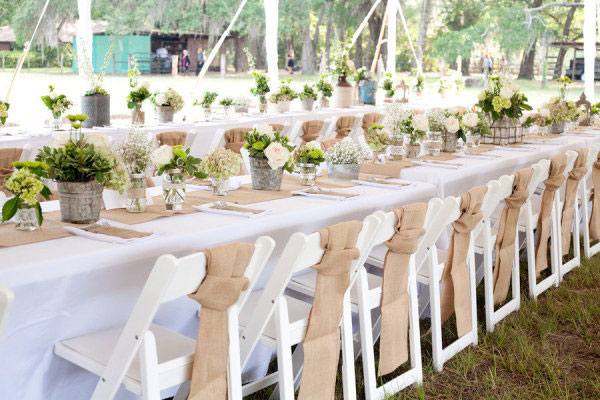 table dit burlap idées chemins   wedding de oui Des  reception J'ai de runners table