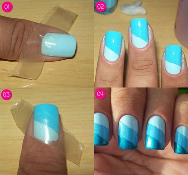 photo nail art simple et jolie