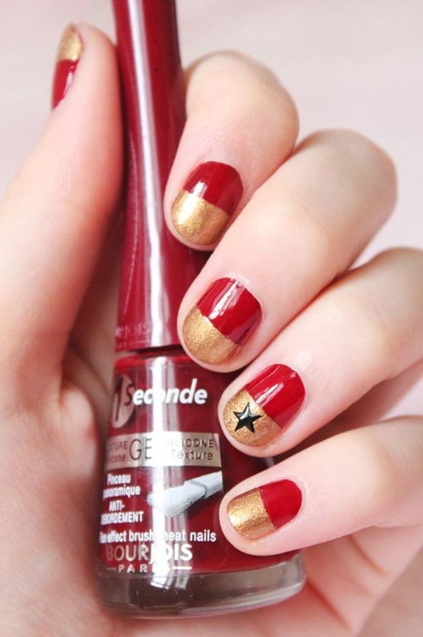 1.nail-art-rouge-et-or