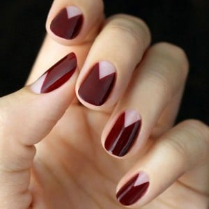 13.nail-art-rouge-triangle