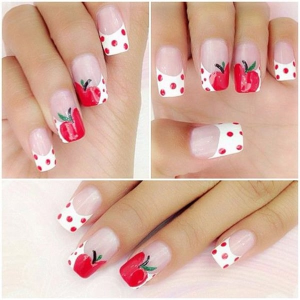 14.nail-art-rouge-pomme
