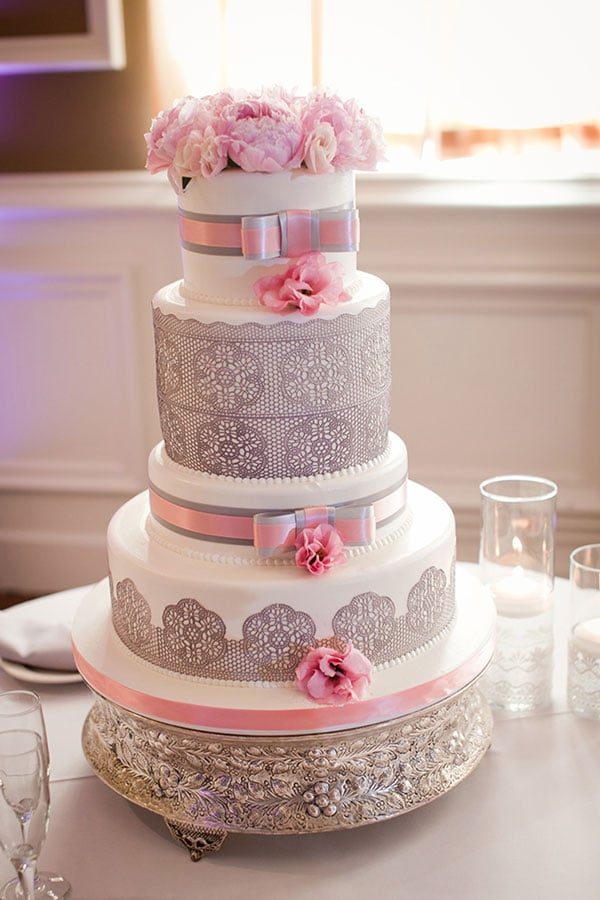 pink and grey wedding cake ideas mariage gris et j ai dit oui 18547