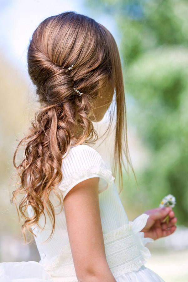 Attractif 36.coiffure-petite-fille-mariage-look-moderne - J'ai dit oui YY57